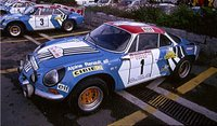 1973 Alpine A110 Tour De Corse #1 in 1:8 Scale by GT Spirit