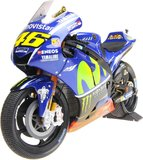 Yamaha YZR-M1 Valentino Rossi w/Rain Tires in 1:12 Scale by Minichamps