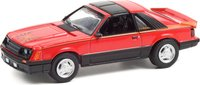 1981 Ford Mustang Cobra in Bright Red in 1:64 scale by Greenlight