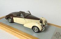 1939 Bugatti Type 57C Aravis Cabriolet Letourner & Marchand sn57826 Resin Model Car in 1:43 Scale by Ilario