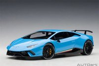 Lamborghini Huracan Performante Blue in 1:18 Scale by AUTOart
