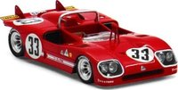1971 Alfa Romeo Tipo 33/3 #33 1971 Sebring 12 Hr 2nd Place, R.Stommelen Model Car in 1:43 Scale by Truescale Miniatures