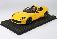 Ferrari 812 GTS in yellow 1:18 scale by BBR