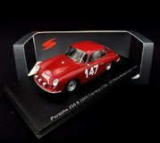 Porsche 356 B 2000 Carrera 2 GS-GT No.147 Monte Carlo 1964 in 1:43 Scale by Spark
