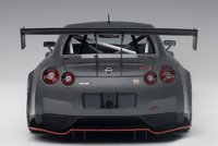 Nissan GT-R Nismo GT3 in Dark Matt Grey Composite Model Car in 1:18 Scale by AUTOart