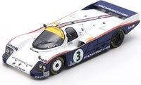 Porsche 962C No.3 24H Le Mans 1985 in 1:43 Scale by Spark.