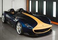 Ferrari Icona SP2 Blu Tour De France w/case in 1:18 scale by BBR