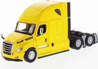 """Freightliner Cascadia SBFA Tandem with 72"""" Sleeper Yellow in 1:50 scale by Diecast Masters"""