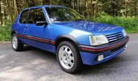1991 Peugeot 205 GTI 1.9 Blue in 1:8 Scale by GT Spirit