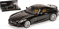Brabus 600 IAA AUF Basis Mercedes-Benz AMG GT S in Black Resin Model in 1:43 Scale by Minichamps