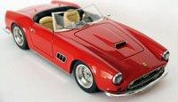 1962 Ferrari 250 GT SWB Spyder California in Red Resin Model Car in 1:43 Scale by Illario