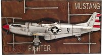1943 Mustang P-51 Fighter 3D Model Painting Frame by Old Modern Handicrafts