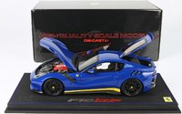 Ferrari F12 TDF 1:18 scale in Blue w/yellow Diecast by BBR