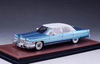 1976 Cadillac Fleetwood Brougham - Crystal Blue in 1:43 scale by GLM