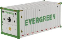 20' Refrigerated Sea Container Evergreen, White in 1:50 scale by Diecast Masters