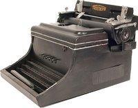 1945 Triumph German Typewriter Handmade Metal by Old Modern Handicrafts