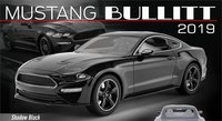 2019 Ford Mustang Bullitt in Shadow Black in 1:18 Scale by GT Spirit