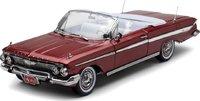 1961 Chevrolet Impala Convertible in Honduras Maroon 1:18 Scale by Sunstar