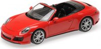 2017 Porsche  911 (991.2) Carrera 4S Cabriolet in RED in 1:43 Scale by Minichamps