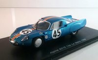 Alpine A210 No.45 24H Le Mans 1966 Resin Model Car in 1:43 Scale by Spark