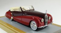1938 Voisin C28 Cabriolet Saliot sn53002 Current Car Resin Model Car in 1:43 Scale by Ilario
