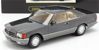1980 Mercedes-Benz 560 SEC in Anthracite in 1:18 Scale by KK Models
