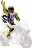 Figurine Riding, Valentino Rossi -100 GP WINS MOTOGP ASSEN - 2009 in 1:12 Scale by Minichamps