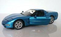 1999 Corvette Coupe in Laguna Blue Diecast Model in 1:24 Scale