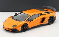 Lamborghini Aventador SV in Orange Closed Body in 1:18 Scale by Kyosho