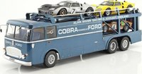 Fiat Bartoletti 306/2 Shelby Cobra Transporter Alan Mann Racing Diecast in 1:18 Scale by Norev
