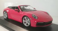 2019 Porsche 911 Carrara 4S Cabriolet in red in 1:18 scale by Minichamps