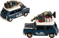 Handmade 1960s Mini Cooper Christmas Car Model Set of 2 by Old Modern Handicrafts