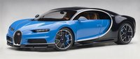 2017 Bugatti Chiron French Racing Blue/Atlantic Blue in 1:12 Scale by AUTOart
