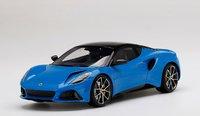 Lotus Emira Seneca Blue in 1:18 scale by Topspeed