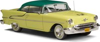 1955 Oldsmobile Super 88 Holiday Coupe Two Tone Yellow in 1:43 Scale by Esval Models.