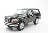 1992 Ford Bronco Black in 1:18 Scale by LS Collectibles