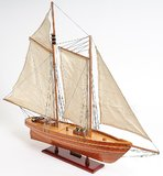 America Cup Racing Yacht Fully Assembled Model in 1:8 Scale by Old Modern Handicrafts