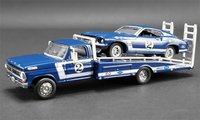 Ford F-350 Ford F-350  with #2 1969 Trans Am Mustang in 1:64 Scale by Acme