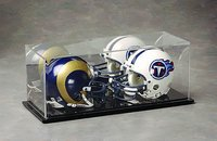 Double Mini Helmet Display Case: Dual Style