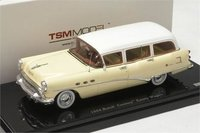 1954 Buick Century Estate Wagon White Model Car in 1:43 Scale by True Scale Miniatures