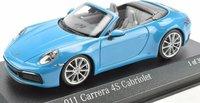 PORSCHE 911 CARRERA 4 S CABRIOLET MIAMI BLUE in 1:43 scale by Minichamps
