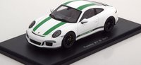 2017 Porsche 911 R Resin Model Car in 1:43 Scale by Spark