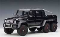 Mercedes-Benz G63 AMG 6x6 in Gloss Black Diecast Model Car in 1:18 Scale by AUTOart
