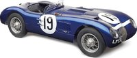 1952 Jaguar C-Type in Blue #19 by CMC in 1:18 Scale