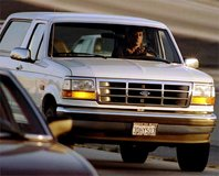 1992 Ford Bronco Police Chase OJ Simpson in 1:18 Scale by LS Collectibles
