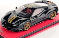 2019 Ferrari 488 Pista High End Resin Model Black 1:18 scale by MR Collection