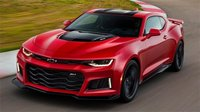 2017 Chevrolet Camaro ZL1 Coupe in Red in 1:18 Scale by GT Spirit