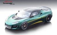 2017 Lotus Evora 410  in Metalic Green Resin Model in 1:18 Scale by Tecnomodel
