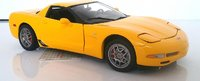 2003 Corvette Z06 in yellow 1:24 scale by The Franklin Mint