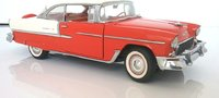 1955 Chevrolet Belair in red/white 1:24 scale by The franklin Mint